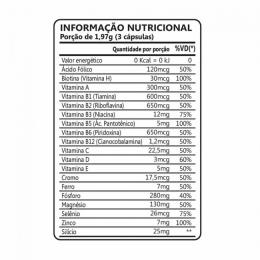 HAIR SKIN E NAILS MEN  - TABELA NUTRICIONAL